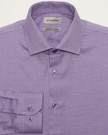 Houndstooth Cotton Euro Fit Shirt