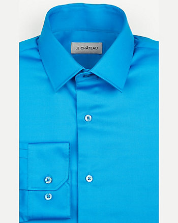 Cotton Sateen Tailored Fit Shirt