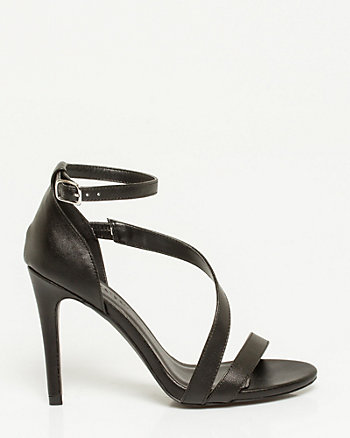 Leather-Like Asymmetrical Sandal