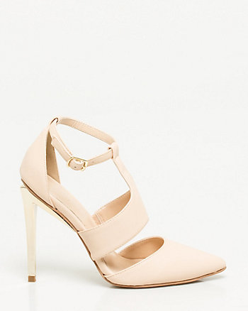 Faux Leather T-Strap Pump