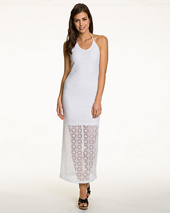 Halter Crochet Maxi Dress
