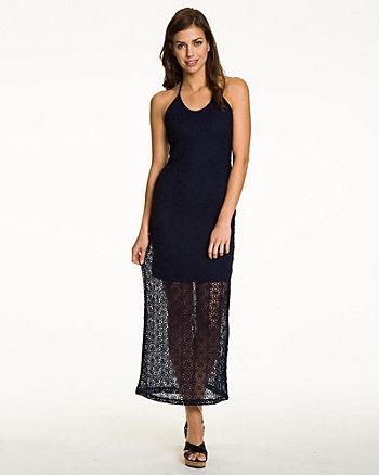 Halter Crochet Maxi Dress