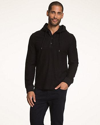 Cotton Slub Hooded Sweatshirt