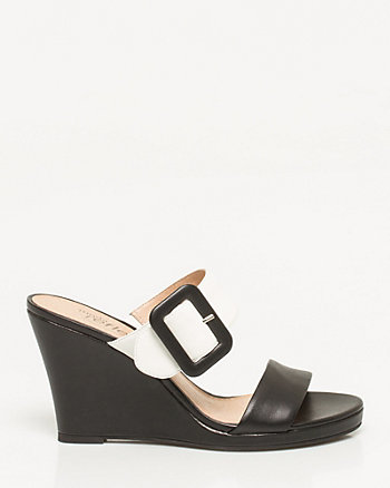 Leather Platform Mule Sandal