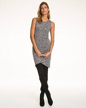 Jersey Knit Crew Neck Dress