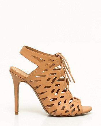 Faux Leather Ghillie Tie Sandal