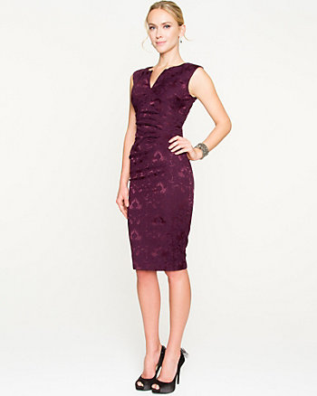 Textured Jacquard Fitted Dress