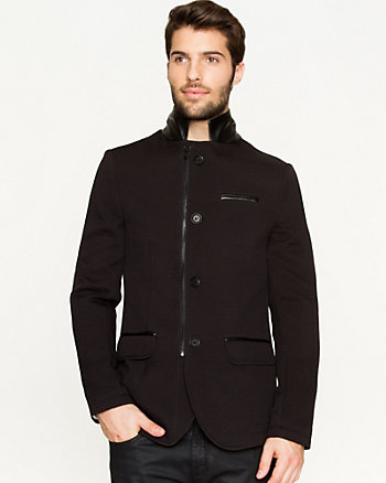 Ponte Knit Slim Fit Blazer