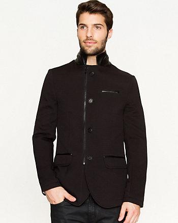 Ponte Knit Slim Fit Blazer