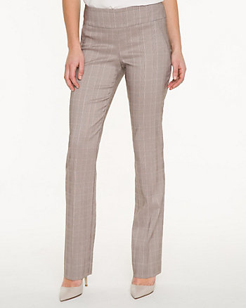 Glen Check Tech Stretch Straight Leg Pant