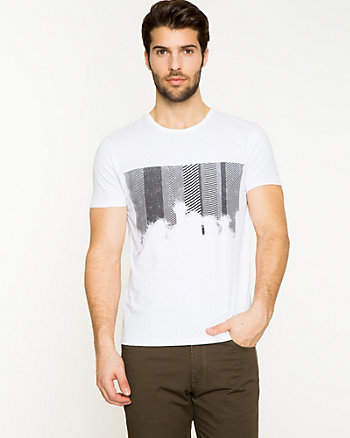 Placement Print Cotton T-shirt
