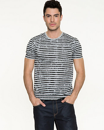 Stripe Cotton T-shirt