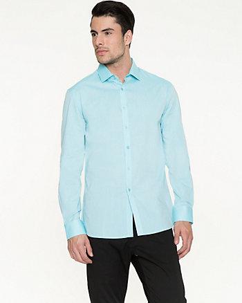 Iridescent Cotton Tailored Fit Shirt