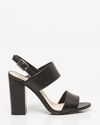 Leather-like Slingback Double Band Sandal