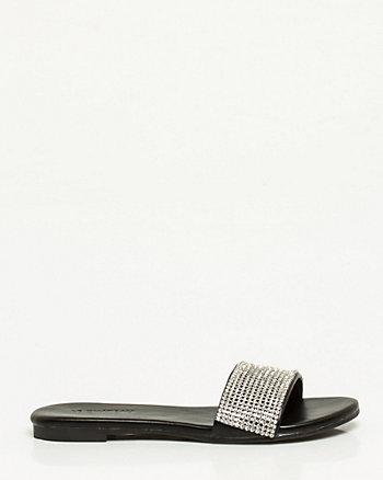 Jewel Embellished Flat Sandal