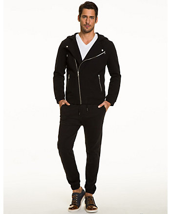 French Terry Asymmetrical Zip Jacket