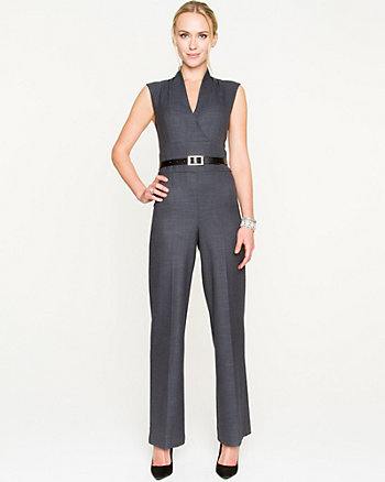 Tweed Wide Leg Jumpsuit
