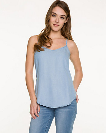 Lyocell V-Neck Tank Top