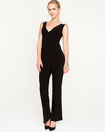 Knit Flared Leg Jumpsuit