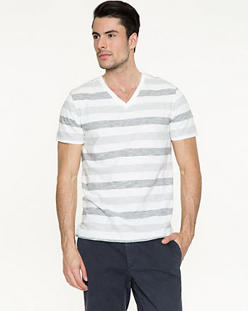 Stripe Cotton Slub T-Shirt
