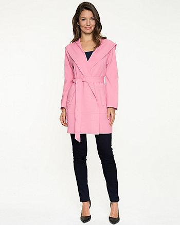 Double Weave Hooded Wrap Coat