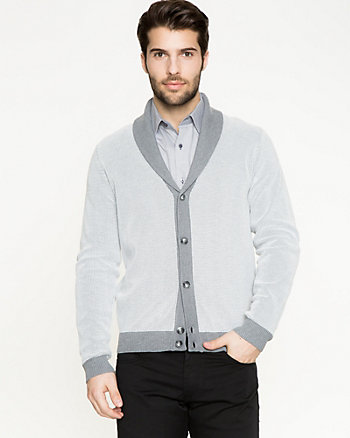 Knit Shawl Collar Cardigan