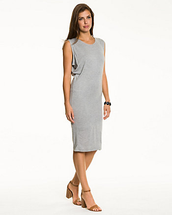 Jersey Crew Neck Tunic Dress