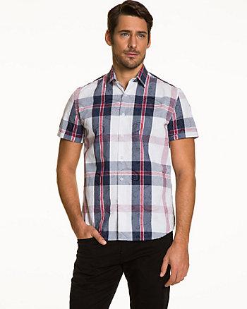 Check Cotton Slim Fit Shirt