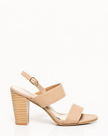Faux Leather Double Band Sandal