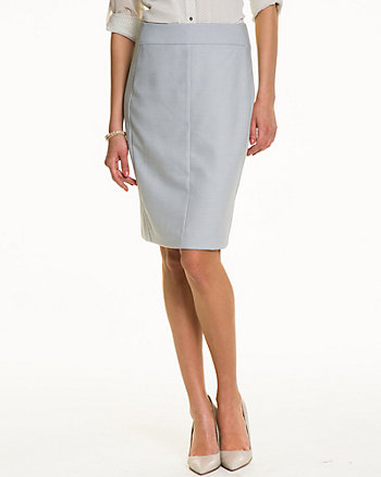 Crosshatch High Waist Pencil Skirt
