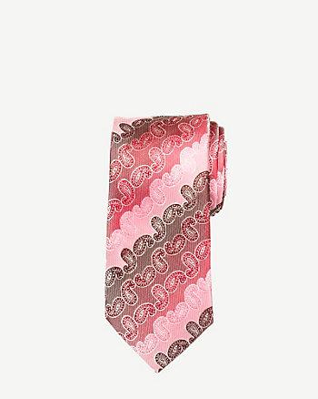 Paisley Microfibre Skinny Tie