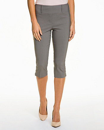 Stretch Woven Straight Leg Crop Pant