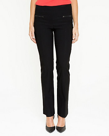 Stretch Woven Straight Leg Pant