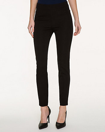 Stretch Cotton Gabardine Skinny Leg Pant