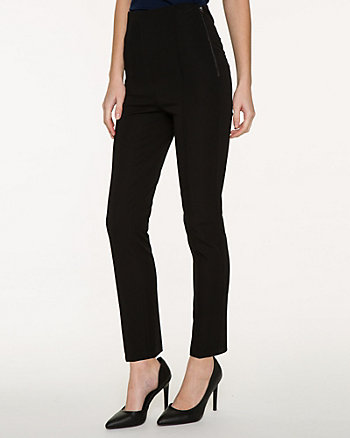 Stretch Cotton High Waist Crop Pant