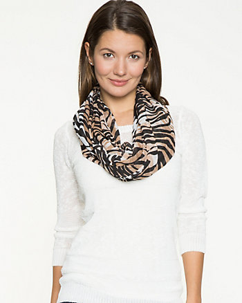 Silk-Like Tiger Print Scarf