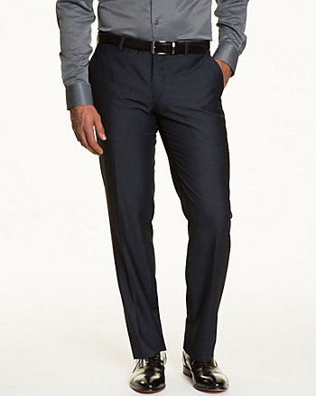 Two-Tone Twill Slim Fit Pant