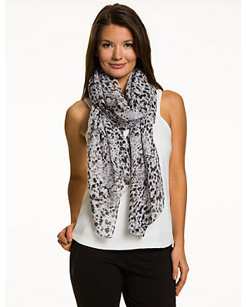 Woven Snow Leopard Scarf