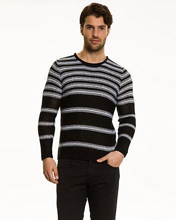 Stripe Chunky Tape Yarn Sweater