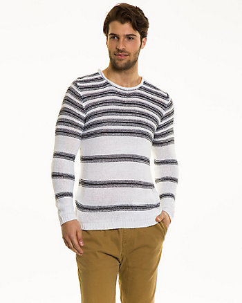 Stripe Chunky Tape Yarn Sweater