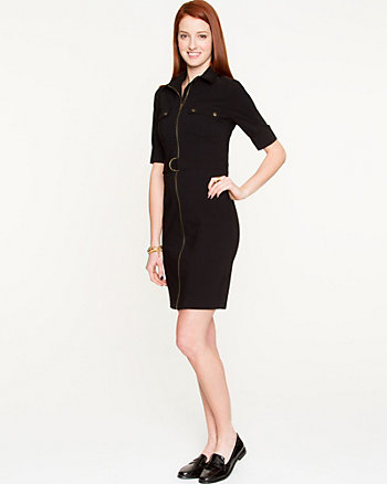 Bengaline Belted Shirtdress