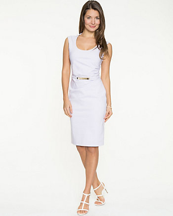Bengaline Belted Shift Dress