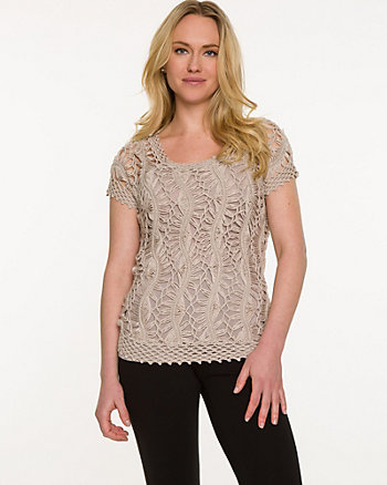 Crochet Scoop Neck Sweater