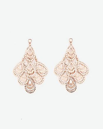 Gem Trapezoid Earrings