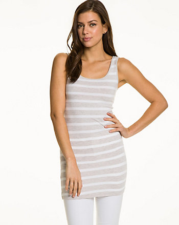 Stripe Jersey Sleeveless Tunic