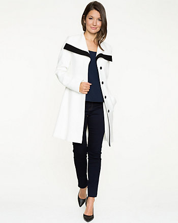 Double Weave Belted Wrap Coat