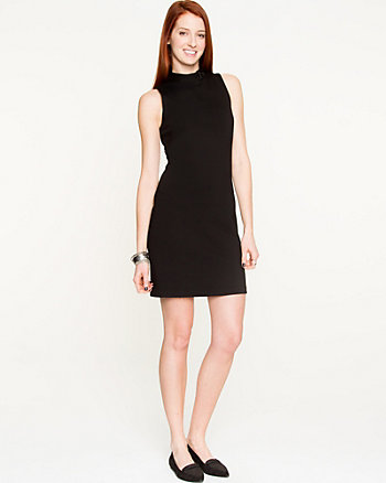 Ponte Mock Neck Mini Dress