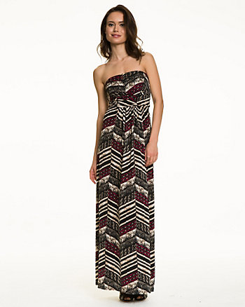 Tribal Print Knit Maxi Dress