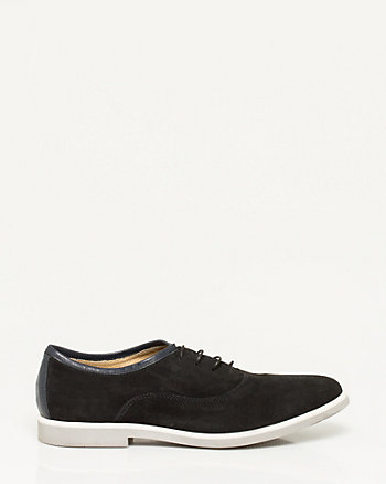 Suede Almond Toe Oxford