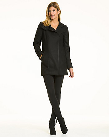 Melton Funnel Neck Coat